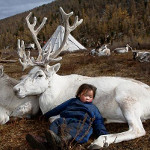 Child & Carribou