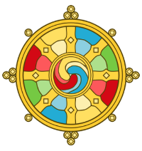 retreat dharma wheel